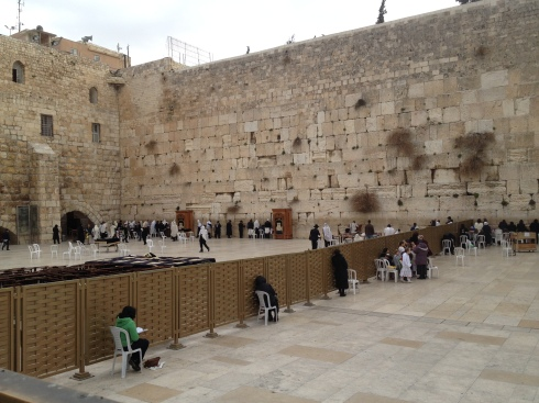The Western Wall in Jerusalem - a place of prayer.